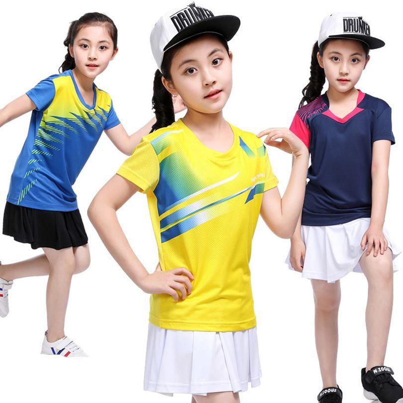 Girl tenis masculino,Kid table tennis Jersey,short sleeved table tennis shirts,Children badminton shirt,polyester sport t-shirt