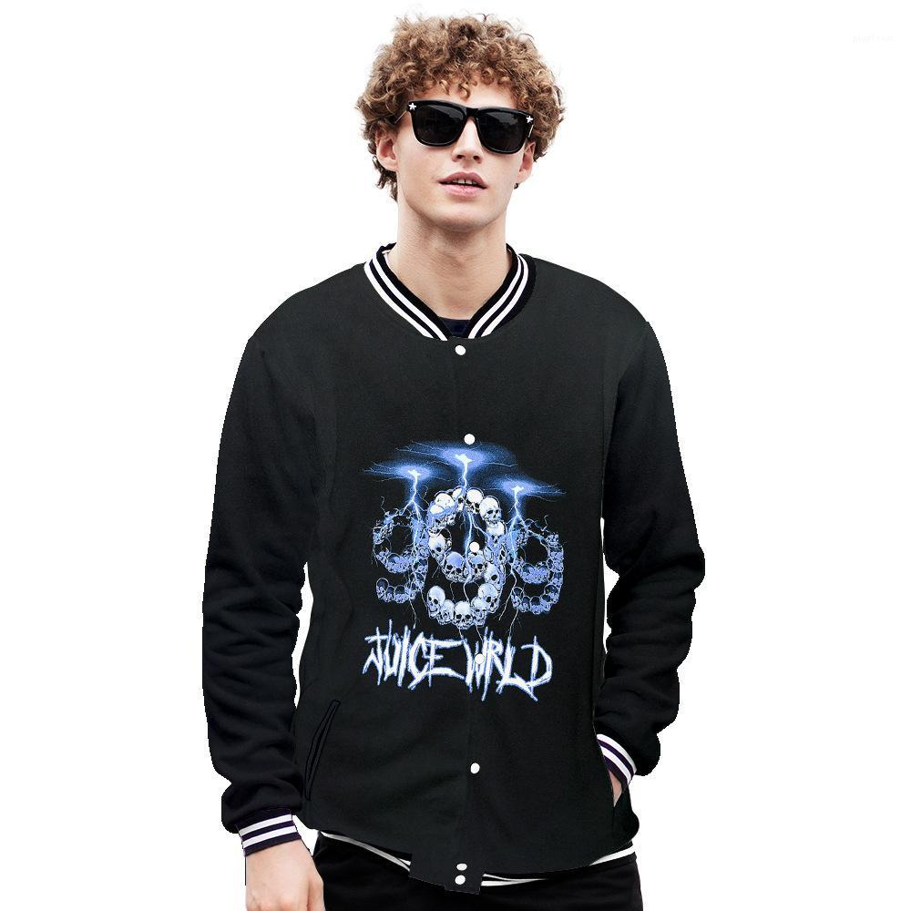 3D Print Baseball Jacket Teenagers Panelled Designer Stand Collar Single Breasted Males Street Style Casual Clothes Juice Wrld Mens