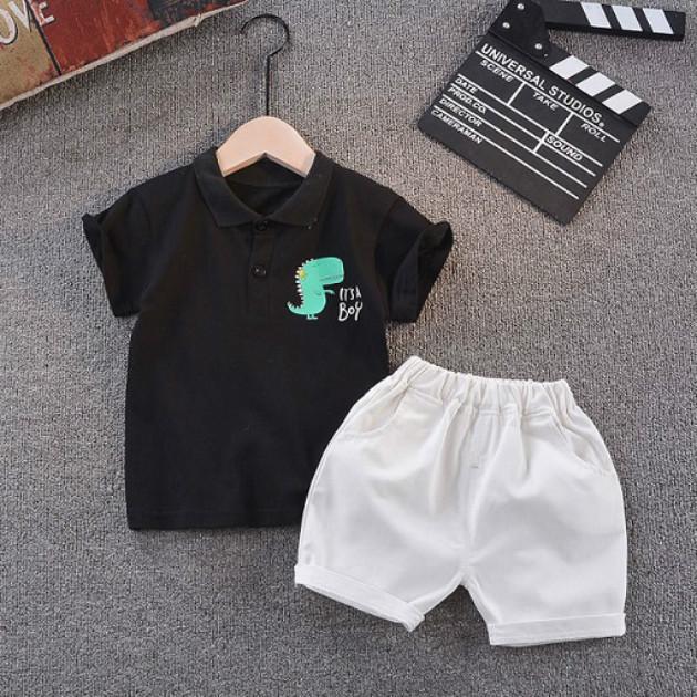 2020 Enfants Designer Vêtements Ensembles Vêtements Été Vêtements Vêtements Costumes Polos + Shorts Deux Morces Boyes Enfants Mode Print T-shirts T-shirts T-shirts Tees
