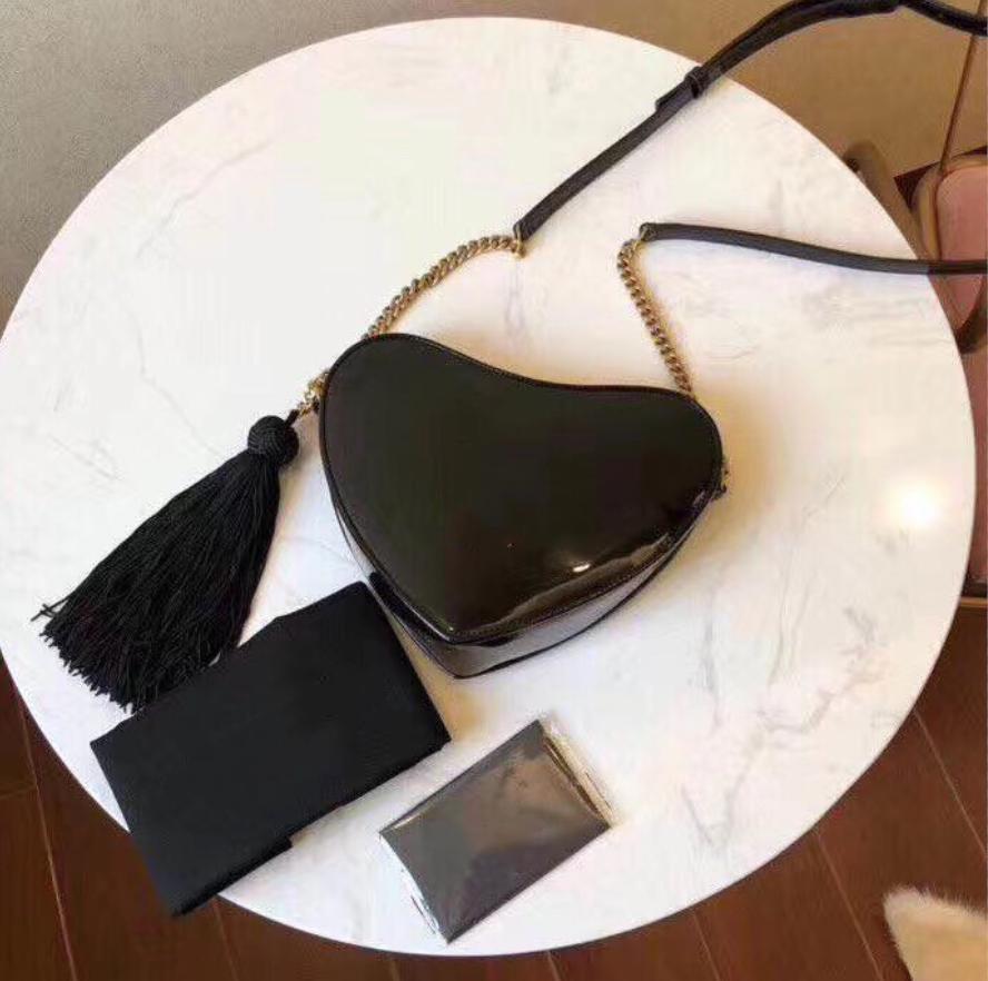 Designer Luxus-Handtaschen Portemonnaie Frauen-Marken-Ketten-Schulter-Beutel hochwertiges neuestes Herz Umhängetasche Geschenk mit Box