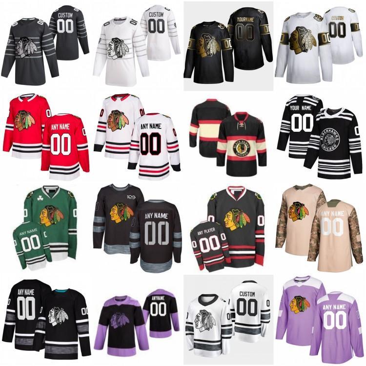 2020 All Star Game 88 Patrick Kane Personalizar Chicago Blackhawks Hóquei Jerseys 19 Jonathan Toovs 77 Kirby Dach 17 Dylan Strome Keith