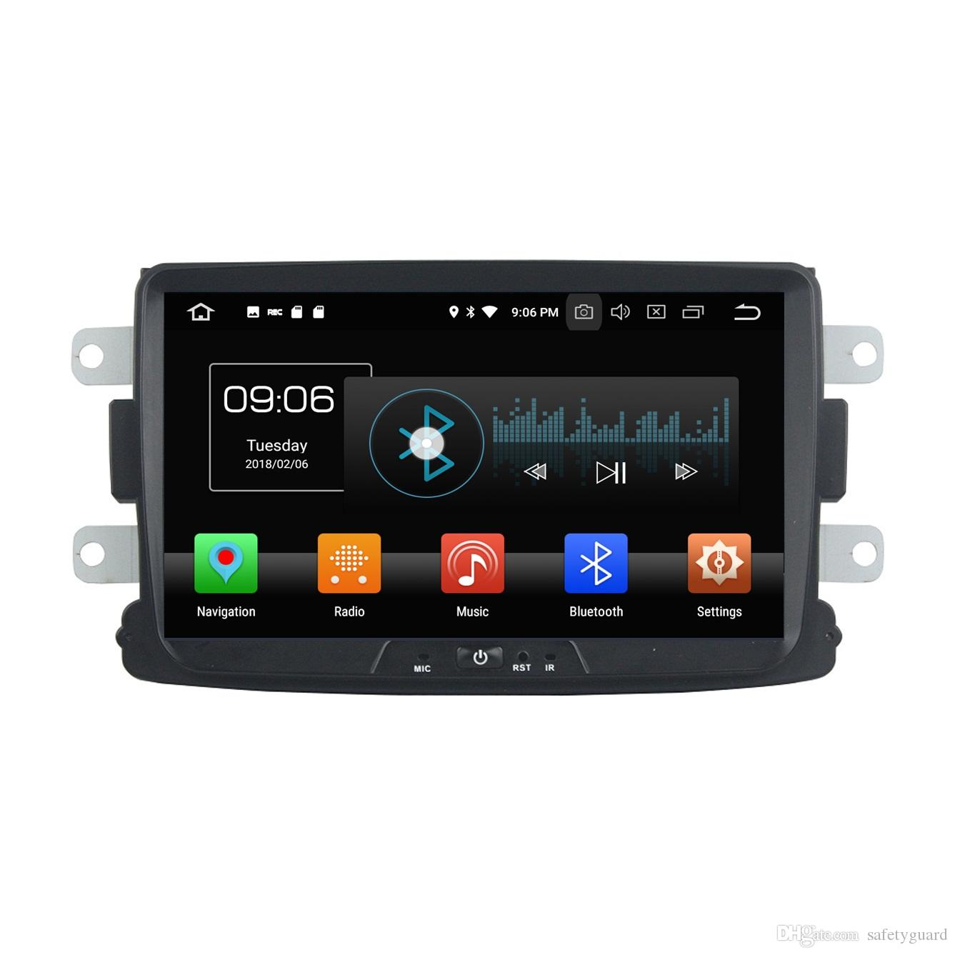 TDA7851 PX5 4GB RAM Octa Core Android 8.0 Car DVD Player for Renault Duster Logan 2014 2015 2016 RDS Radio GPS WIFI Bluetooth Mirror-link