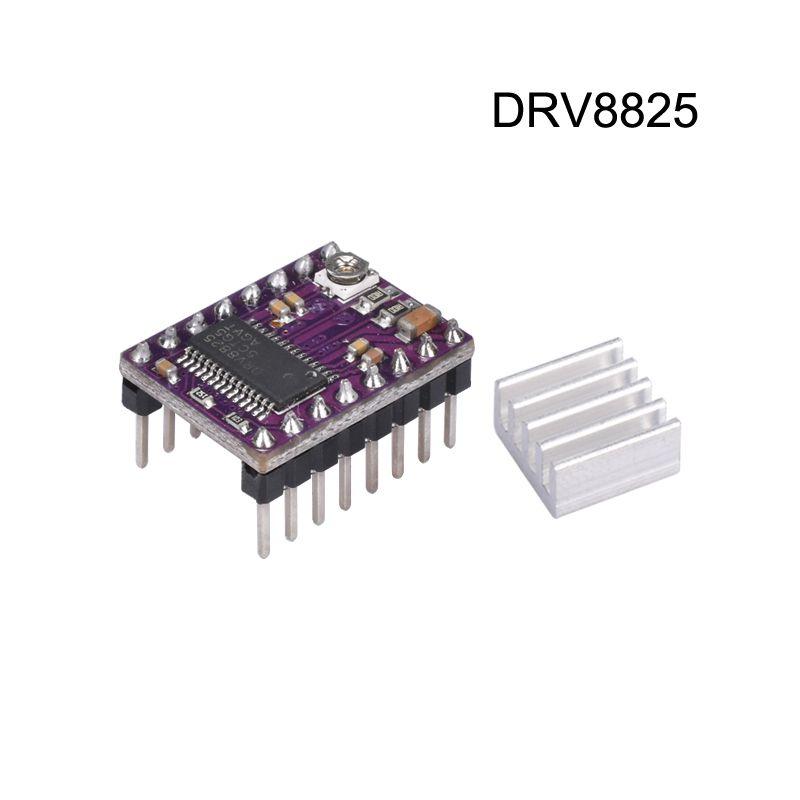heap 3D Printer Parts & Accessories 3D Printer parts StepStick DRV 8825 DRV8825 Stepper Motor Driver Module Reprap 4 PCB Board replace A4...