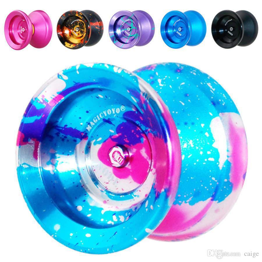 Йойо Профессиональный ручной играть в мяч Йойо Высокое качество металла сплава Yo Yo Классические игрушки Diabolo Волшебный подарок игрушки для детей