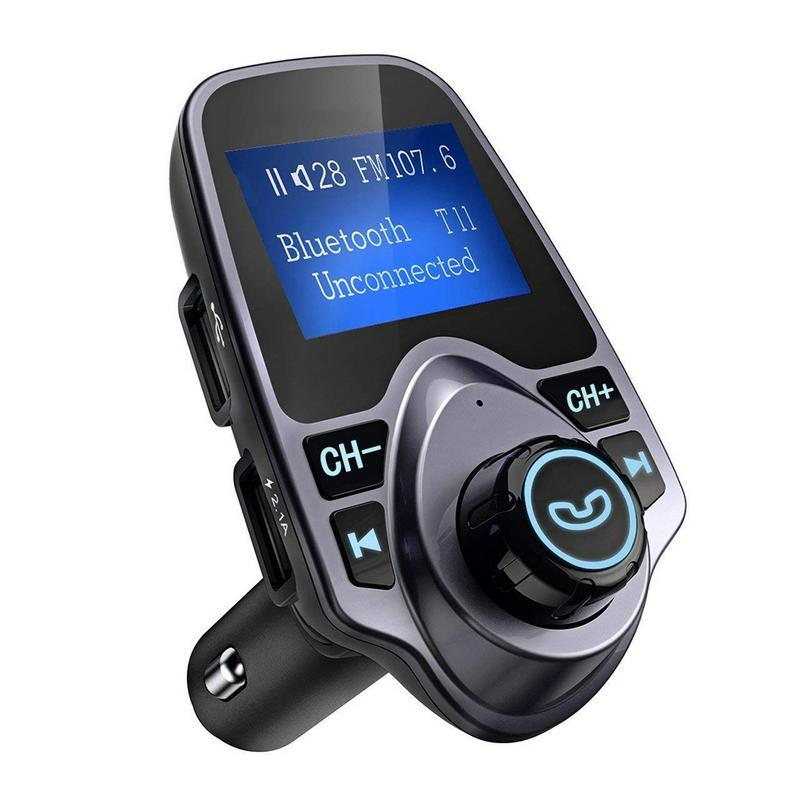 Auto Bluetooth drahtlose Auto-MP3-Player-Radio-Adapter freihändiges Auto Installationssatz-FM USB-Ladegerät LCD Display FM-Modulator