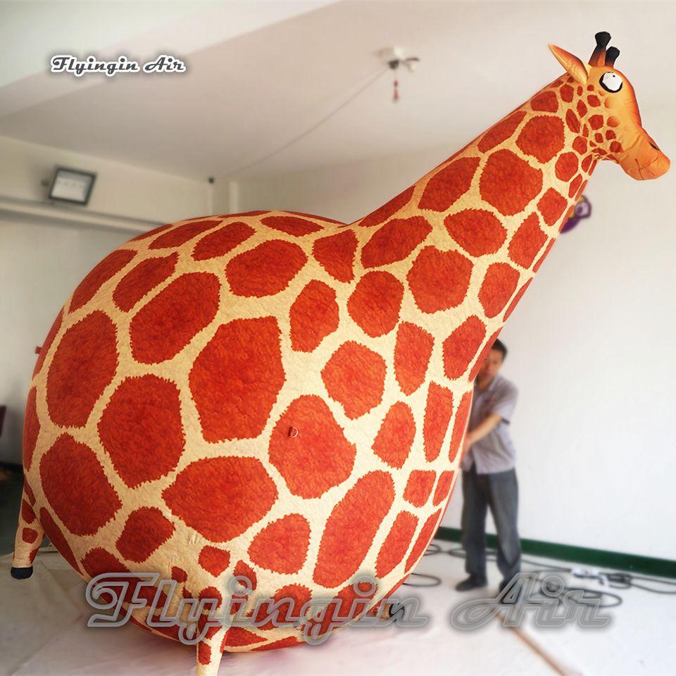 Подгонянная рекламируя Раздувная высота воздушного шара 3M Шаржа животная раздувает жирафа для украшения выставки и Партии парада