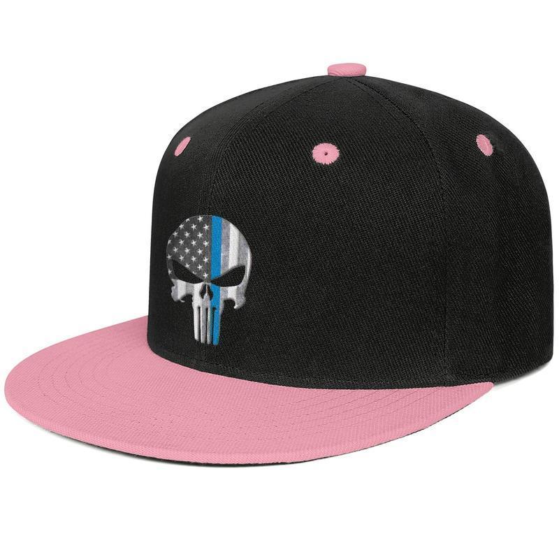 Thin Blue Line Unisex Baseball Cap Classic Adjustable Plain Cap