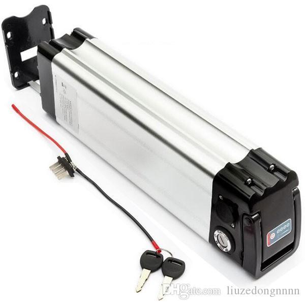 Silberfisch ebike akku batterie 36v 14ah 15ah elektro fahrrad lithium batterie mit ladegerät und BMS