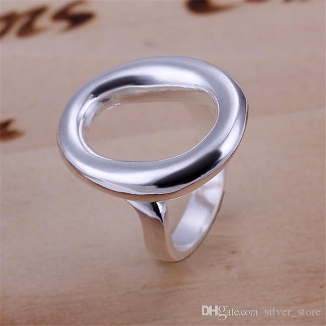 حار بيع 925 الفضة مطلي افتتاح O الدائري، وصول منتج جديد، الموضة جدا والشعبية 925 الفضة RING، DSSR-008