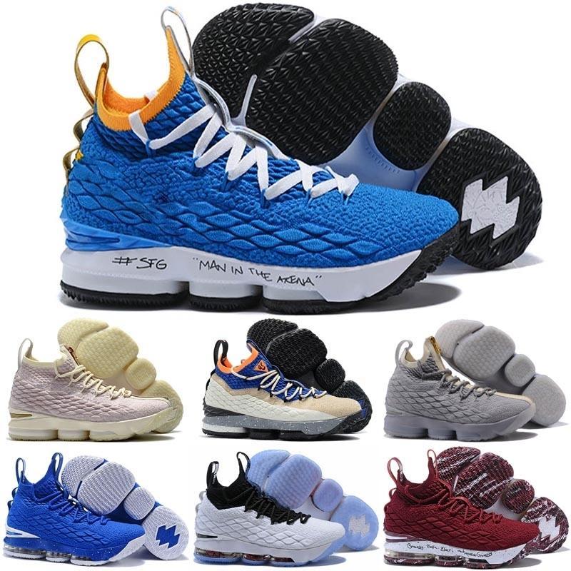 Neuer Ankunfts-Qualitäts-XV 15 Schwarz Weiß Basketball-Schuhe für Männer 15s EP Sporttraining Turnschuhe Größe 40-46