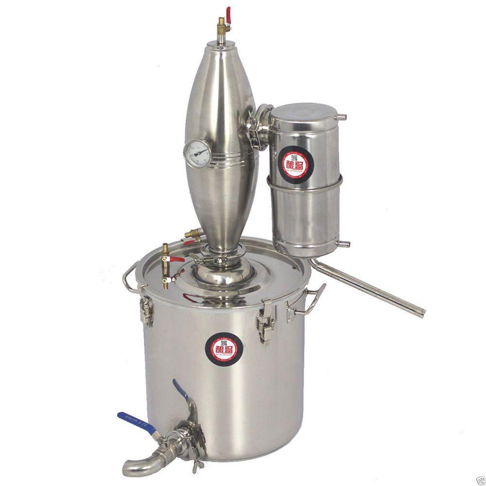 30L / 8Gal Moonshine ainda Início álcool Oil Wine Distiller Fazendo Água Brew Kit álcool Distilling Máquina