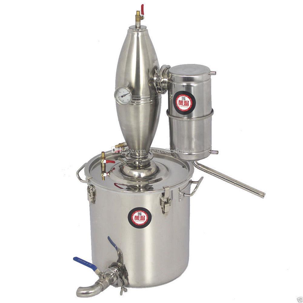 30L / 8Gal Mondenschein noch Startseite Alkohol Öl Distiller Weinherstellung Wasser Brew Kit Alkohol Destillieren Maschine