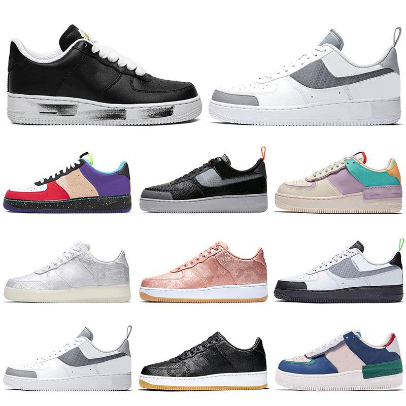 Discount Skate Shoes Low Homens Mulheres Plataforma Sneakers Noise CLOT What The LA Sob Mens Construção instrutor Sports Casual