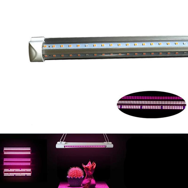 25pcs LED 식물은 빛 T8 V-모양의 통합 의료 식물과 꽃 과일 핑크 색상의 빛 튜브 전체 스펙트럼을 성장 성장
