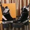 20SS bottes de concepteur de luxe femmes Desert Boot talon Chunky chaussures Martin Imprimer la plate-forme en cuir désert à lacets couleurs Boot 13 mnbi06