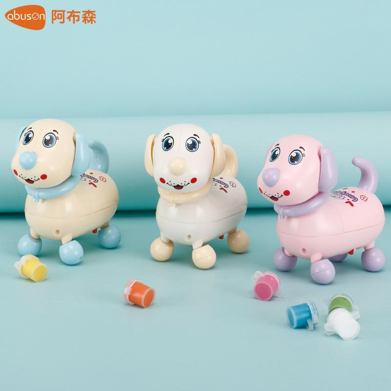 Kids Electric puppy will run will move with light music fun Fun baby cartoon will walk gift small toys