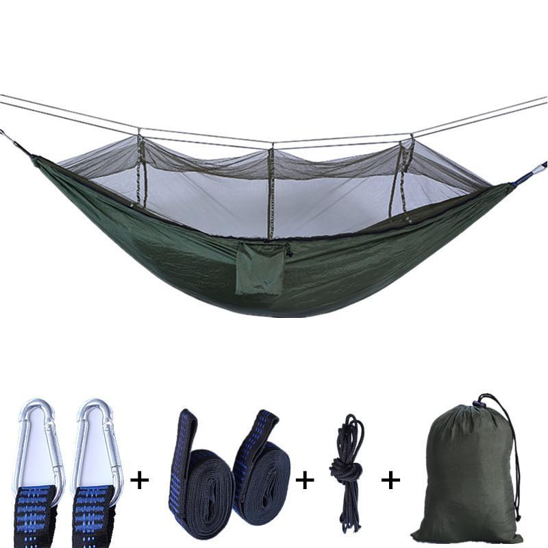 Moskitonetz Hängematte Fallschirm-Tuch im Freien Hammock Feld Camping-Zelt Garten Camping Schaukel hängend Bett mit Seilhaken VT1737