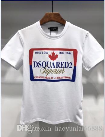 Les hommes luxurys chemise 2019 été New Arrival chemise DS T-shirt Concepteurs Habillement Homme Mode d'impression d'icône T-shirts DT021