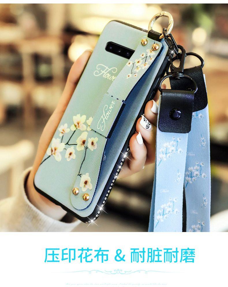 Caso del diseñador de pulsera de la correa del teléfono para Samsung Galaxy S20 S10 Ultra Plus S9 Nota 10 Plus 9 A71 A51 A70 A50 A30 A20 A30S A10S funda de lujo