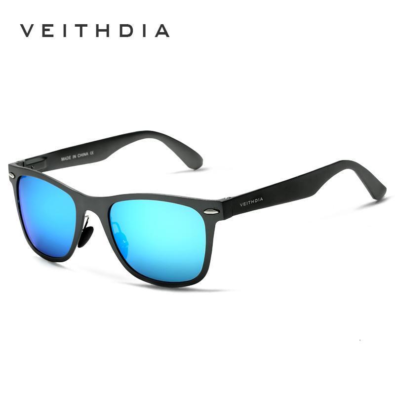 VEITHDIA Aluminum Magnesium Fashion Men's Mirror Sun Glasses Goggle Eyewear Female / Male Accessories Sunglasses For Women/Men T200108