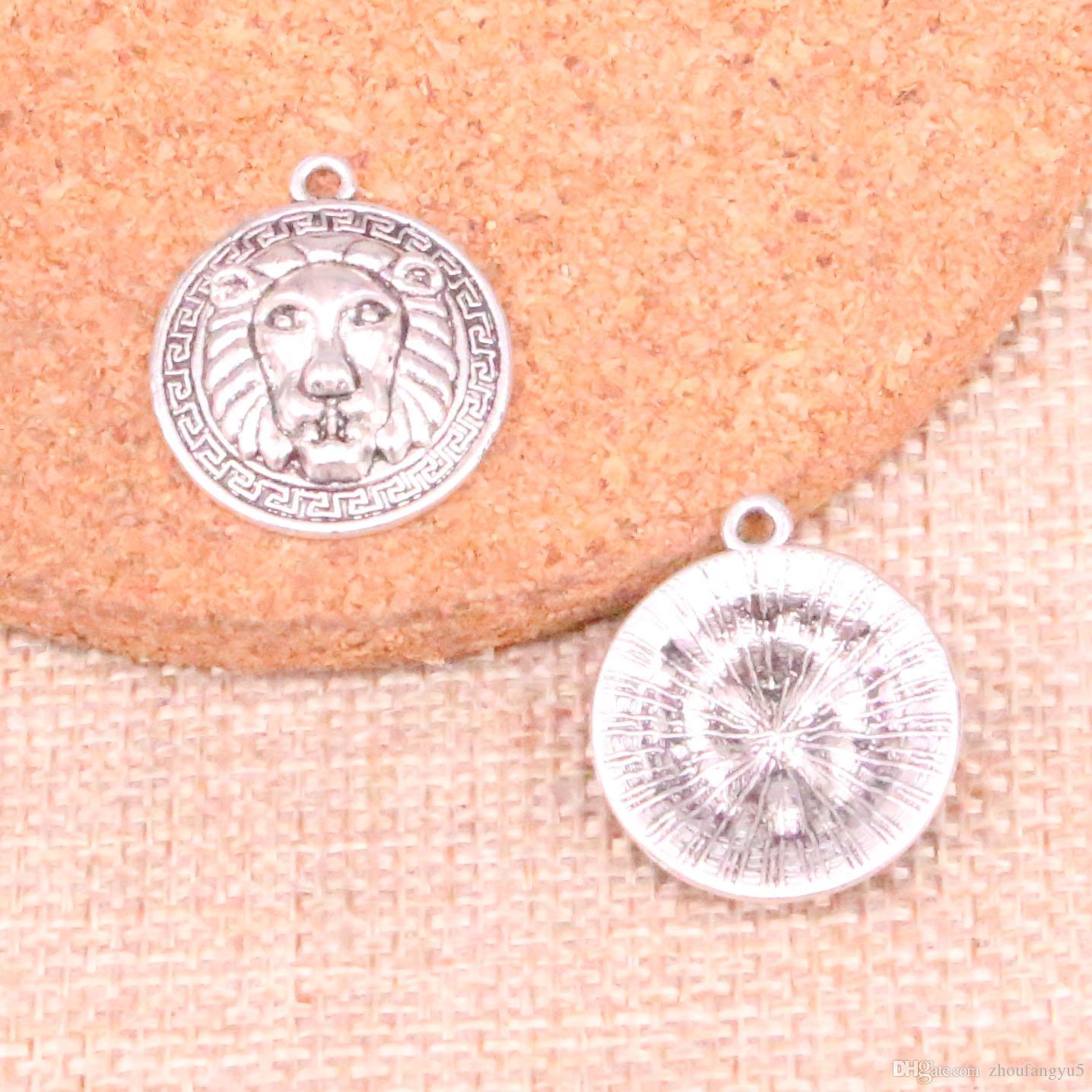 41pcs encantos leão 24 * 20 milímetros Antique ajuste Fazendo pendente, prata tibetana do vintage, DIY artesanal jóias