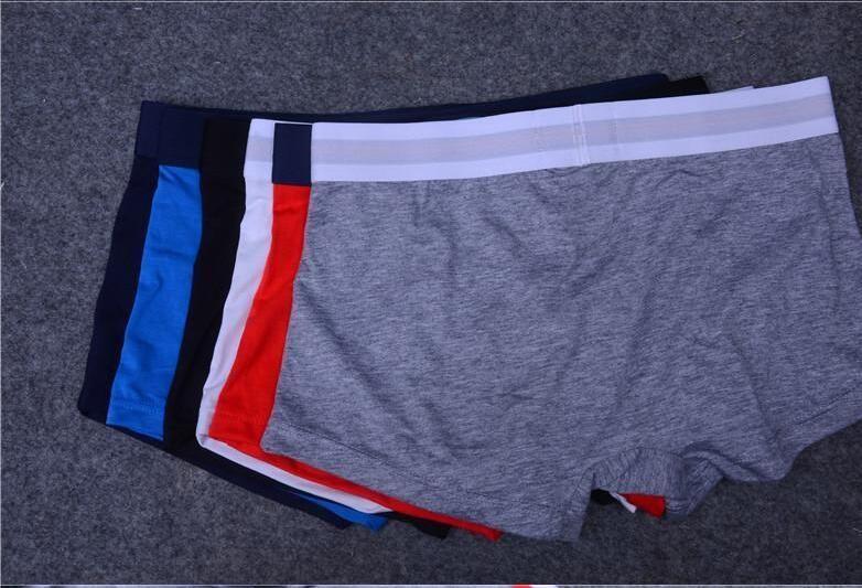 5pcs / lot homens cueca samba-canção Underwear Man Shorts Homens Cueca s Sexy Underwear Casual Man respirável Masculino Gay Underwear Shorts Cueca Boxer
