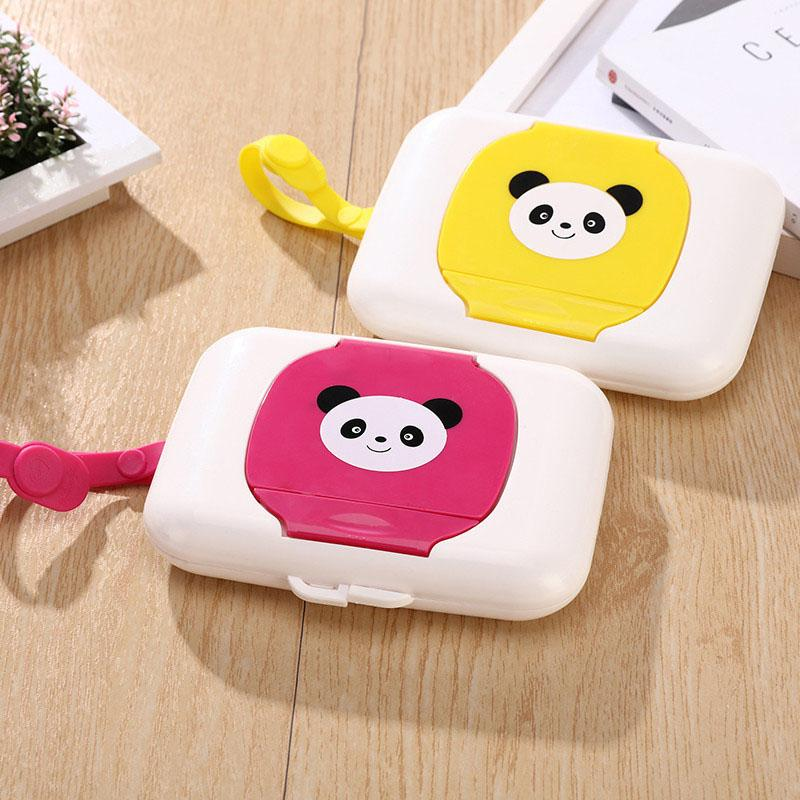 Baby Wipes Case Wet Wipe Box Dispenser For Stroller Portable Rope Lid Covered Tissue Four Colors Hot Selling Easy To Use Boxes