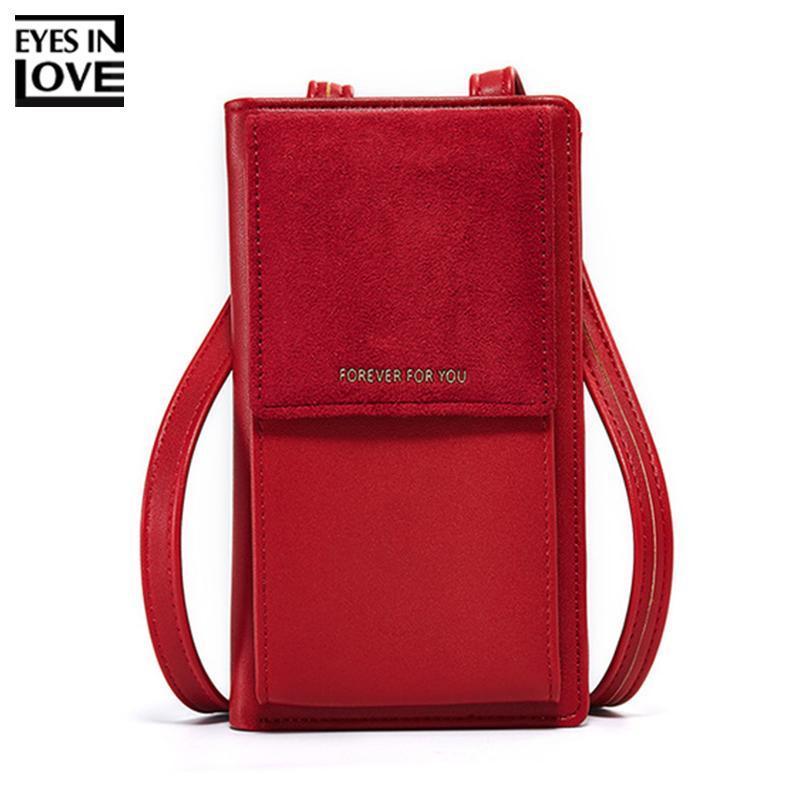 Scrub Pequeño diseñador de las mujeres bolsos de hombro Marca carpeta suave cuero del teléfono monedero manera de las mujeres bolsas de mensajero Mini Mujer Bolsos