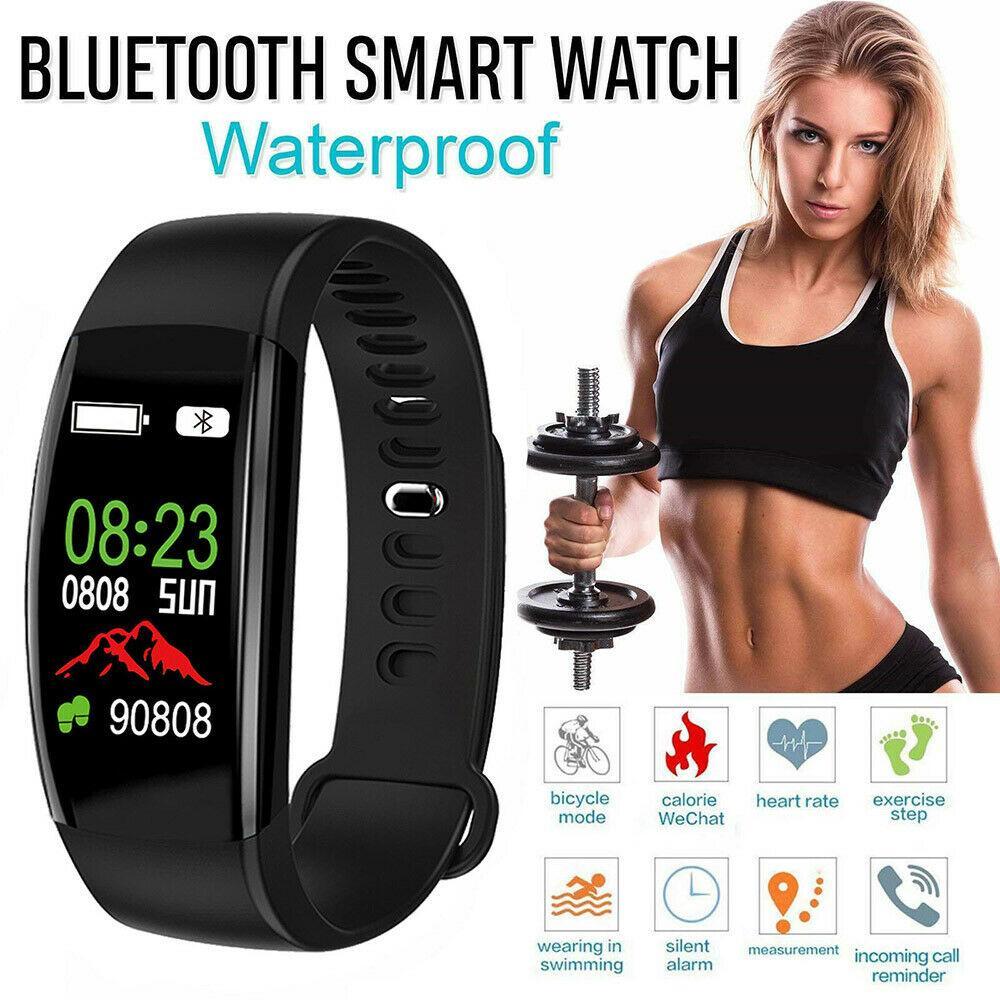 Fitness Smart Bracelet Tracker Montre Sport Podomètre de fréquence cardiaque Smart Band Tensiomètre Poignet Santé étanche