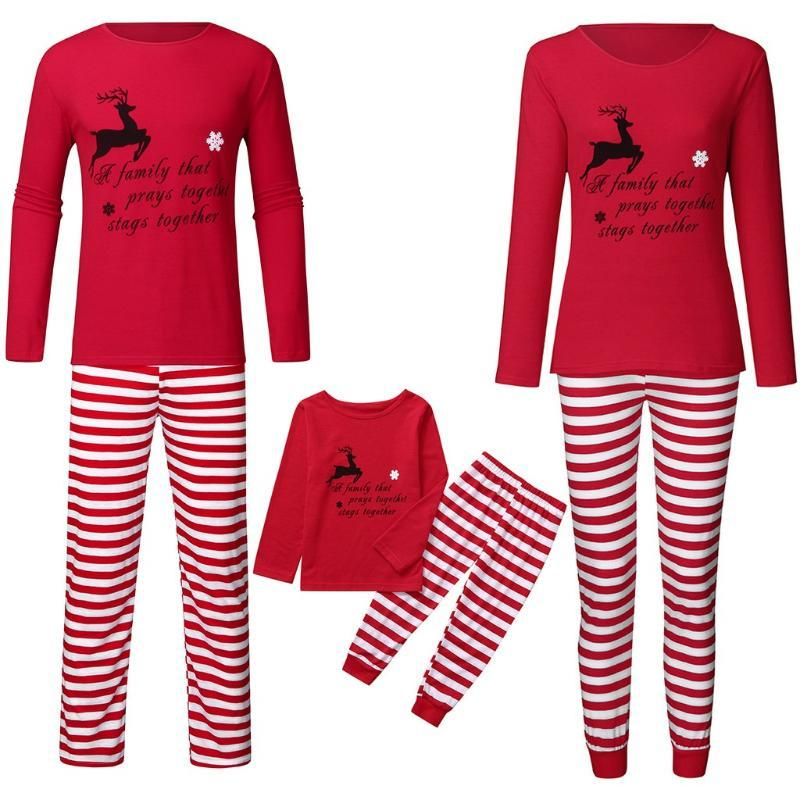 Man Noël Pyjama Set Papa Cartoon flocon de neige Top + Pantalon de Noël Vêtements famille de haute qualité de Deer Fashion Imprimer Pyjama Set