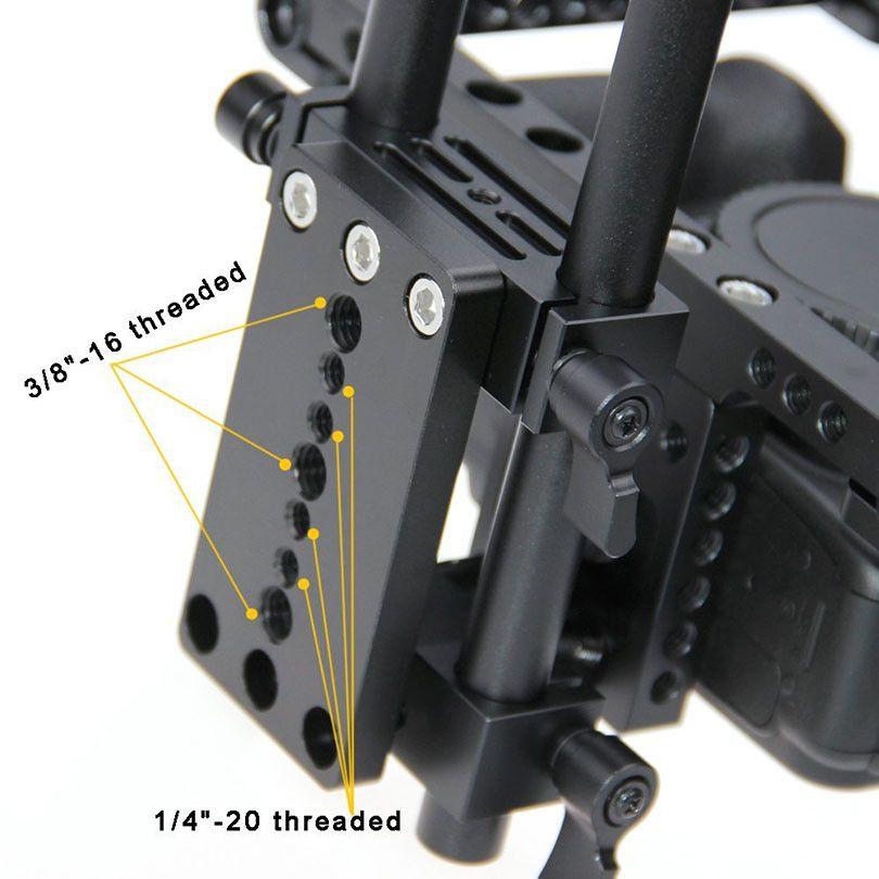 CAMVATE Aluminum DSLR Cage Top Handle Grip Camera Stabilizer Rig Tripod Mount Plate For Canon Nikon Sony Panasonnic 1229 (1)