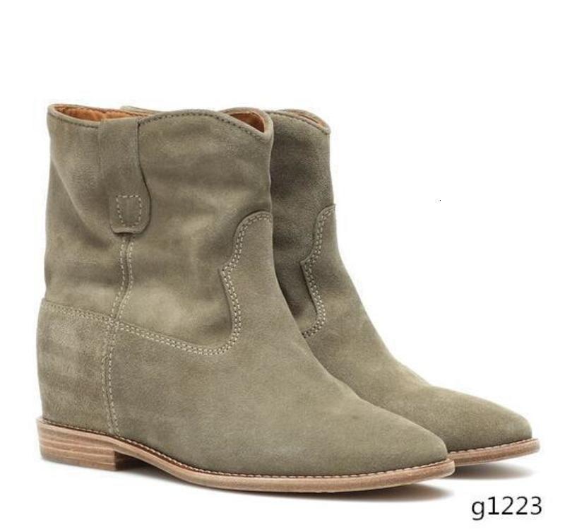 Zapatos marca Perfect clásico de la manera rara Isabel Crisi gamuza tobillo botas de cuero genuino Nueva Marant de calle de París al estilo occidental