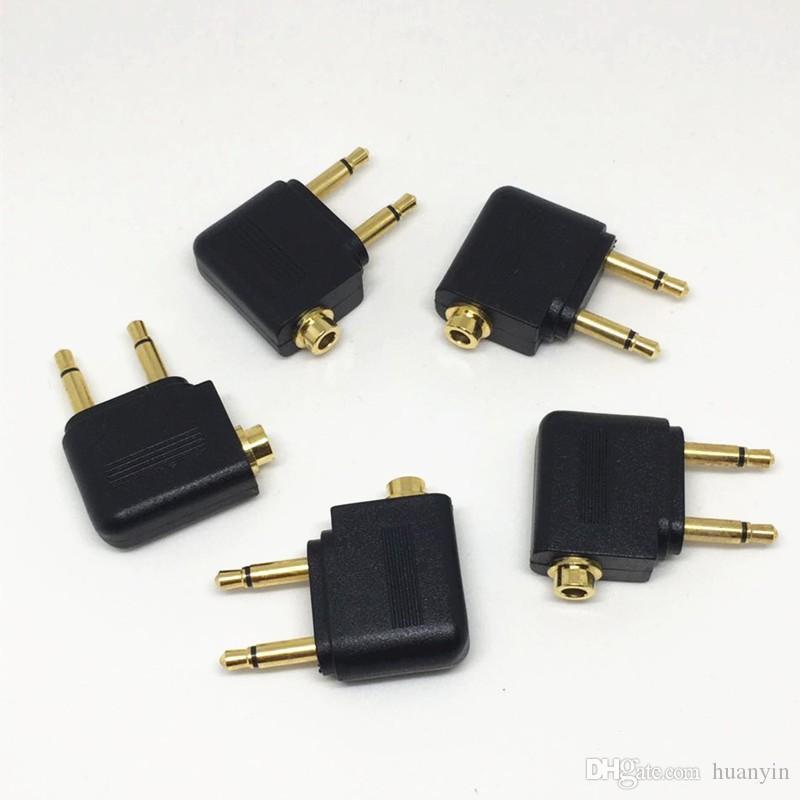 50Pcs \ Lot Or 3.5MM à 2 x 3.5mm mâle Avion casque audio Adaptateur pour double Mono Dual Channel Branchez à Jack stéréo