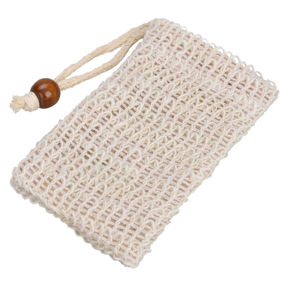 1PC Fashion Nice Natural Ramie Shower Exfoliator Sponge Pouch Comfortable Blister Mesh Soap Saver Bag Foaming Net L4