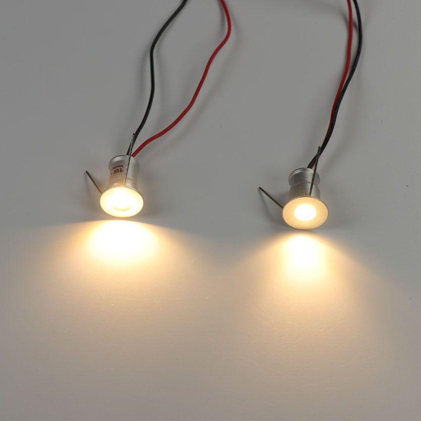 1 W Mini LED Holofotes Downlight Teto Pequeno Recesso Iluminação Showcase Gabinete de Cozinha Passo Stair Light 12 V Lâmpada Plafon Spots Dimmable