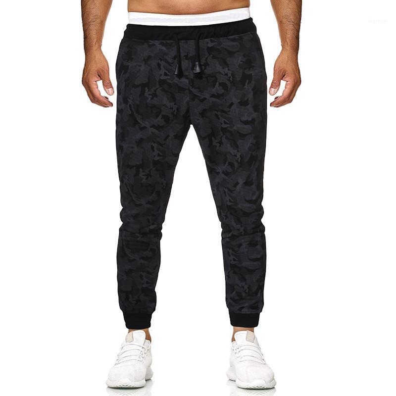 Tasche dei pantaloni casual Panelled Jogger Maschi abbigliamento mimetico Stampa progettista del mens ansima il modo con coulisse Mens diritto