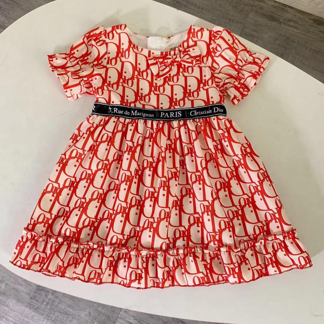 Mädchen Art und Weise kleidet Sommer-Baby-Mädchen-Plaid Neugeborene Mädchen-Sommer-Kleid-Kind-Prinzessin-Baby-Kleid 121106