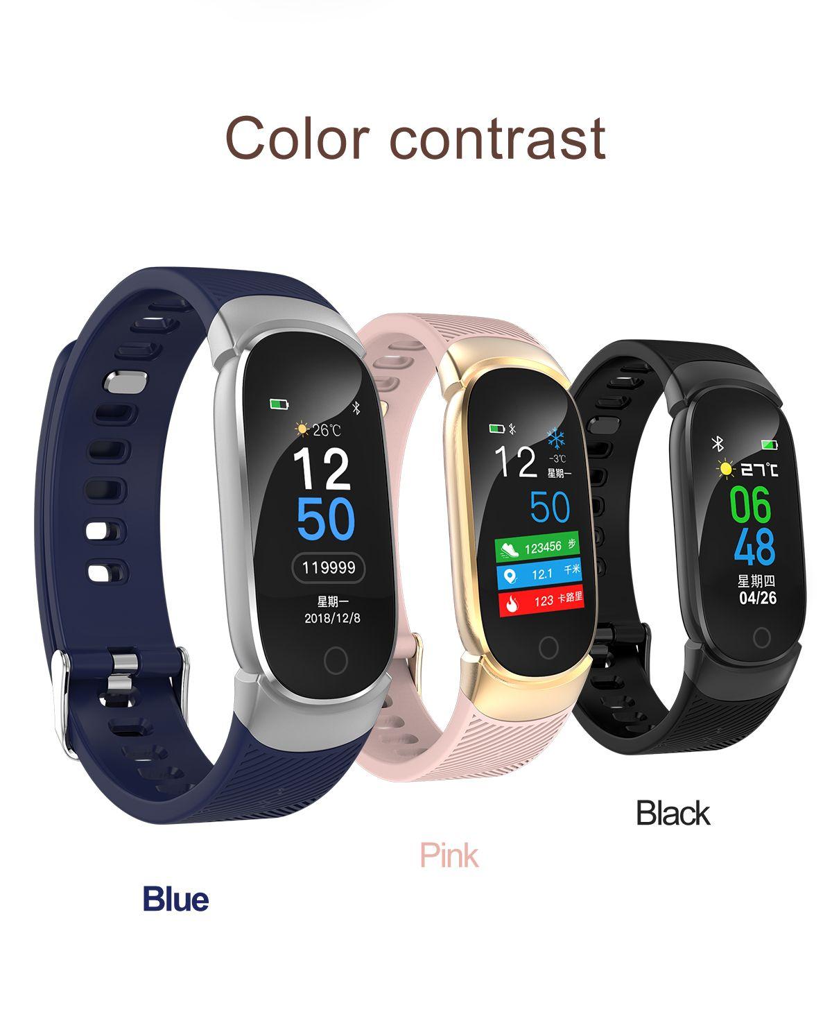 QW16 سمارت ووتش الرياضة اللياقة البدنية النشاط معدل ضربات القلب المقتفي ضغط الدم ووتش الذكية ووتش relogio الروبوت الهاتف SmartWatch