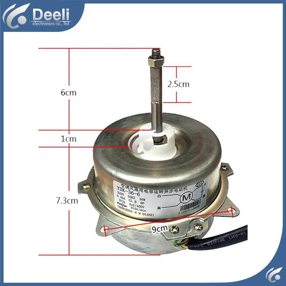 Klima iç makine motor YDK-36-6 Motorlu fan 36W 220V için yeni iyi bir çalışma