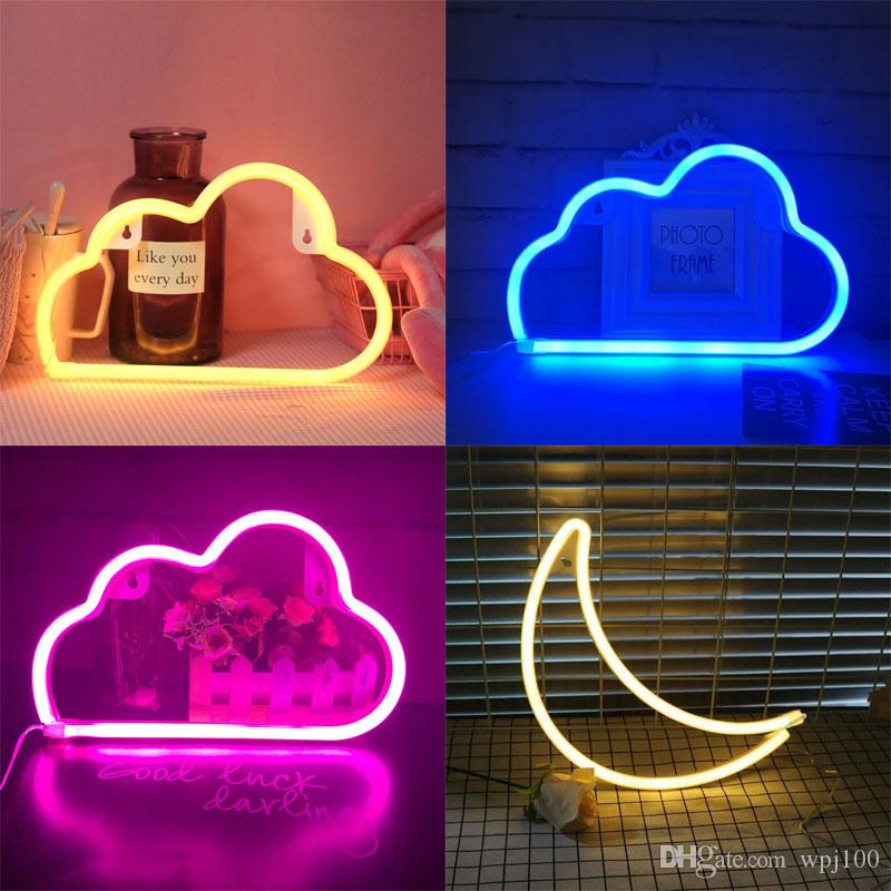 2021 Led Cloud Design Neon Sign Night Light Art Decorative Lights Plastic Wall Lamp For Kids Baby Room Holiday Lighting Xmas Party From Wpj100 26 52 Dhgate Com