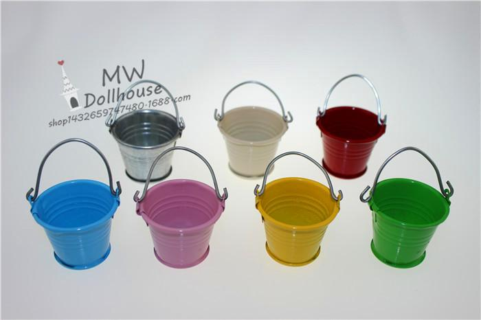free shipping hot Miniature ornaments house craft jewelry doll house accessories mini bucket ornaments factory Outlet