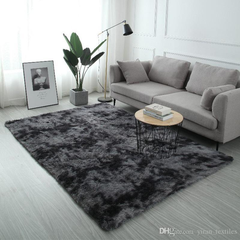 Peluş Kürk Halı Livingroom Yumuşak Shaggy Halı Çocuk Odası Saç Yatak Odası Kilim Koltuk Sehpa Kat Mat Modern Büyük Kilimler