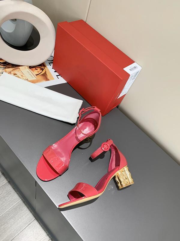 Женщины высокой пятки сандалии из натуральной кожи леди коренастый пятки сандалии женские тапочки бездельники бесплатно epacket доставки