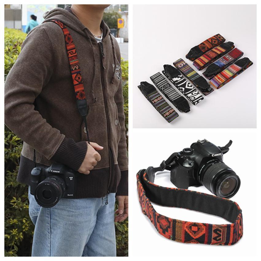 Colorful Camera Lanyard Shoulder Neck Strap Belt Ethnic Style Camera Belt For SLR DSLR Nikon Canon Sony Panasonic Camera Belt ZZA854