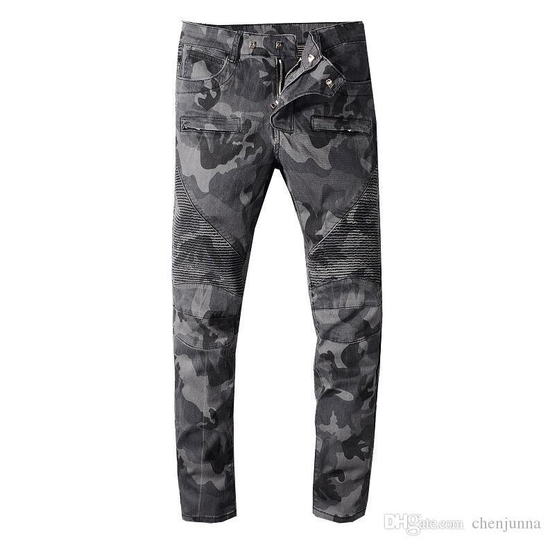 2020ss мужские джинсы Slim Fit рваные джинсы мужчин Привет-стрит Мужские Проблемные Denim бегуны Колено отверстия Промытые Разрушенные мужчины Эластичные джинсы BEM
