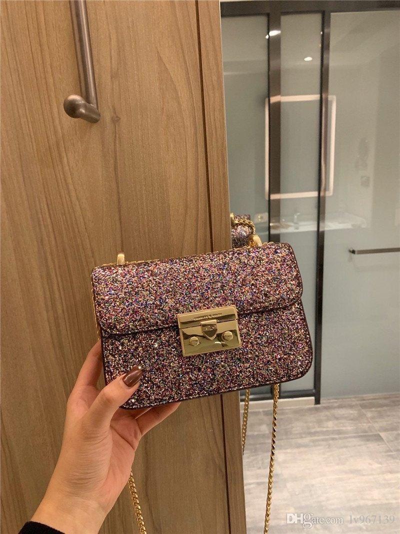 2020 Ladies Retro Moda Calidad Cadena Cuero Pequeño Hombro Bolso Messenger Bag Billet Grid High Handbag Ladies Luxury Handbag0012 PLPD