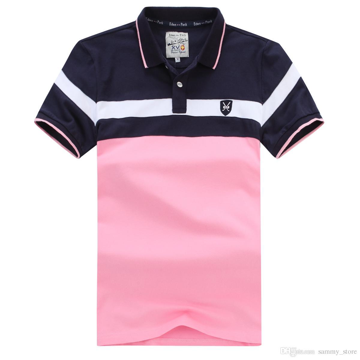 New Best Selling Eden Park Curto Polo For Men Bom Qualidade Fashion Design Big Size M L XL XXL XXXL