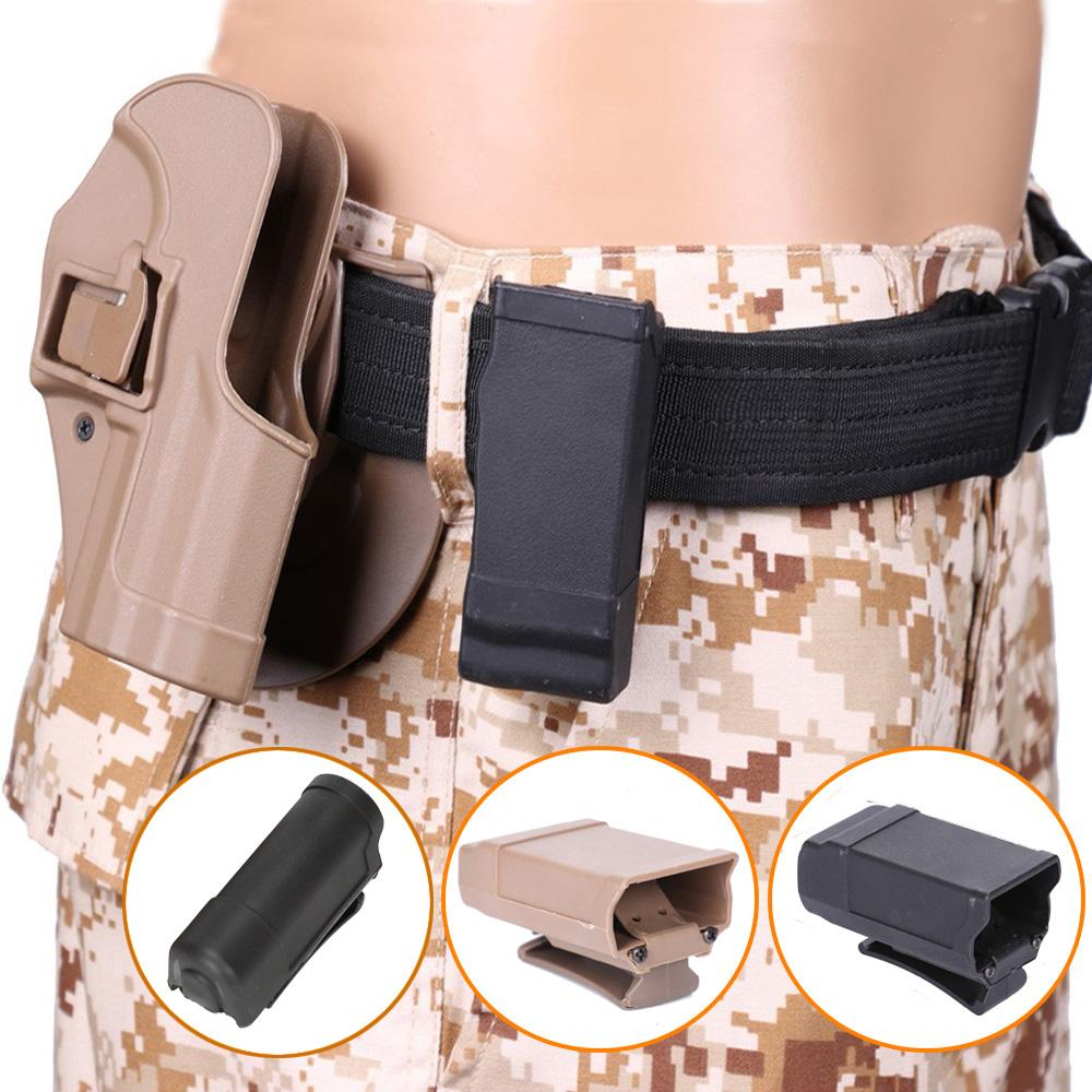 Tactical CQC Magazine Holster Pocket Mag Holder Clip Box Quick Release Hunting Flashlight Pouch Case Waist Belt Pouch