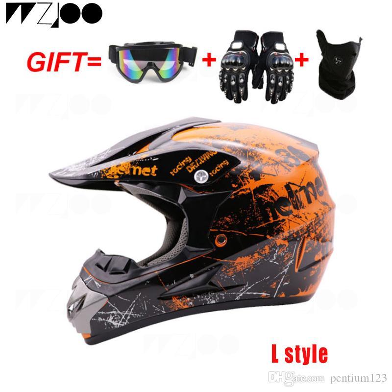 Çapraz motosiklet kask kapalı hediyeler MTB DH yarış çapraz capacetes with3 yol motokros yarış kask DOT moto kask İniş MTB DH mens