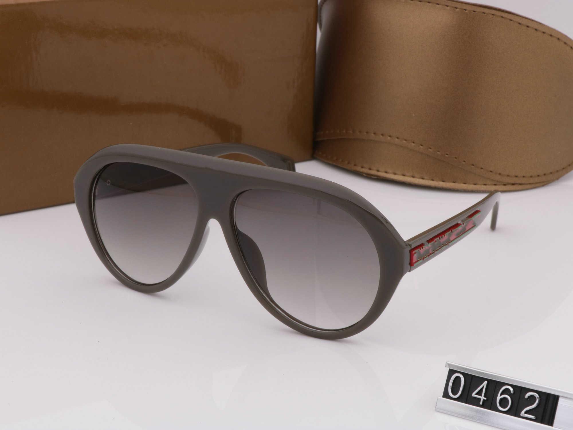 Luxo- Qualtiy Moda Mulheres New sem aro estilo Grosso do metal dos óculos de sol Vintage espelho Sun Glasses alta Star Quality Com Box